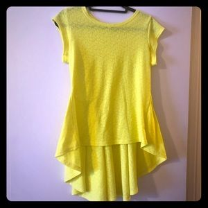 Bright yellow high low top XL